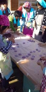 お餅つき 紫餅 あんこ おいしい お餅